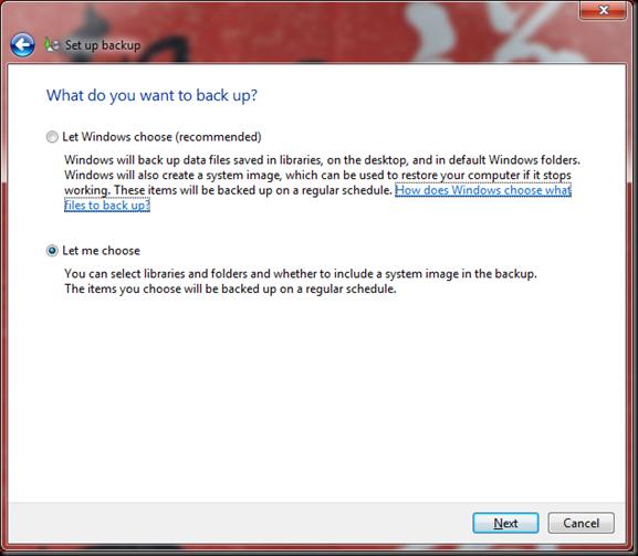 Windows  Backup and Restore 03