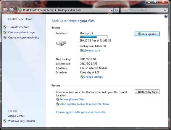 Windows  Backup and Restore 06