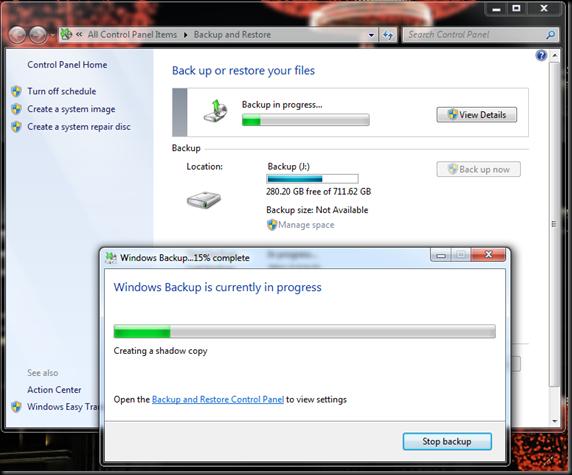 Windows  Backup and Restore 07