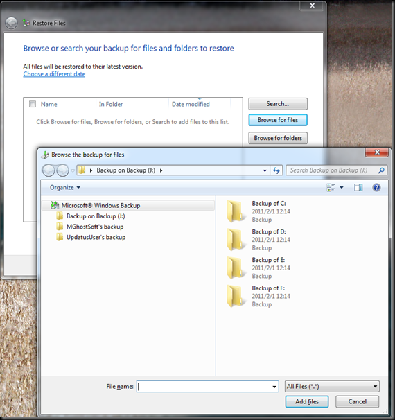 Windows  Backup and Restore 10